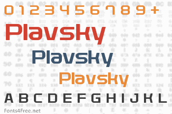 Plavsky Font