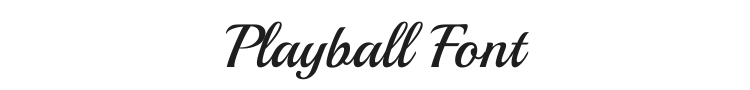 Playball Font Preview