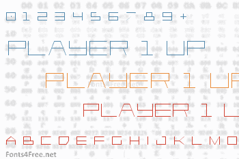 Player 1 Up Font