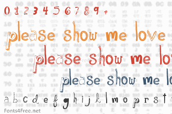 Please Show Me Love Font