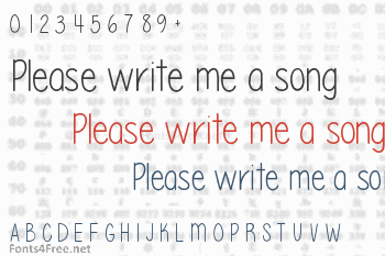 Please write me a song Font