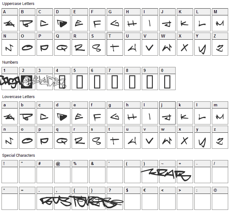 Pleiades Font Character Map