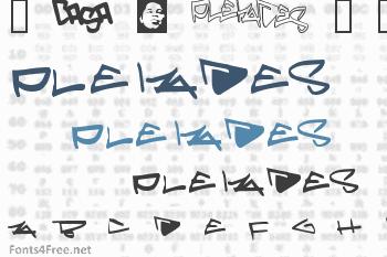 Pleiades Font