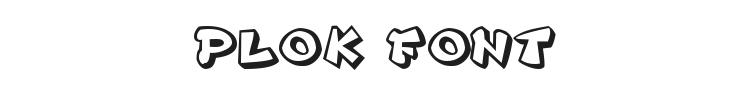 Plok Font Preview