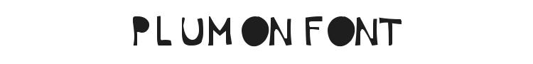 Plumon Font Preview