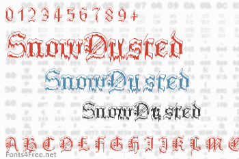 Plymouth Rock SnowDusted Font