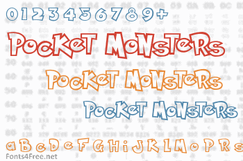 Pocket Monsters Font