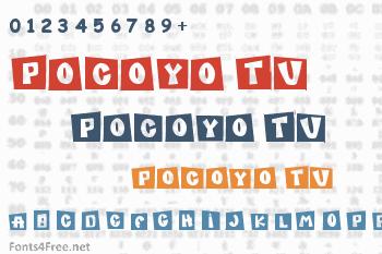 Pocoyo TV Font