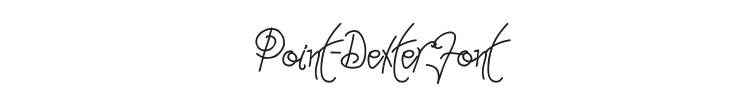 Point-Dexter Font Preview