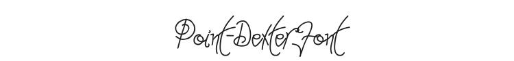 Point-Dexter Font