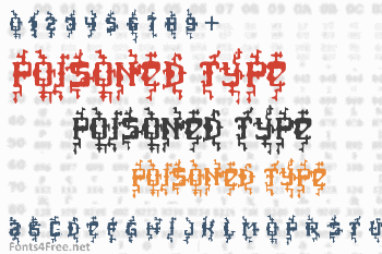 Poisoned Type Font