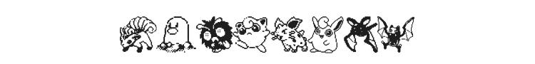 Pokemon Pixels Font Preview