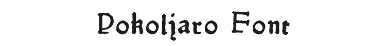 Pokoljaro Font Preview