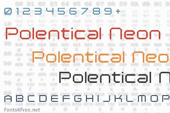 Polentical Neon Font
