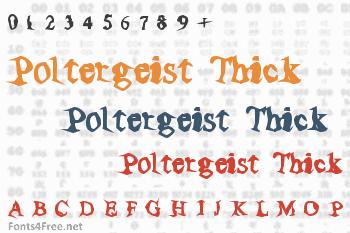Poltergeist Thick Font
