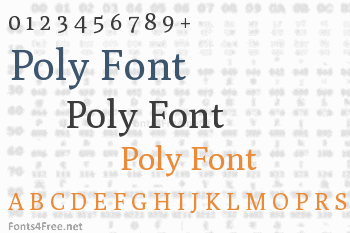 Poly Font