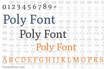 Poly Font