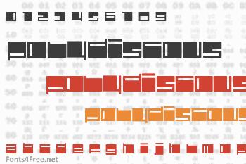 Polydiscous Font