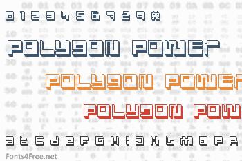 Polygon Power Font