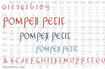 Pompeji Petit Font