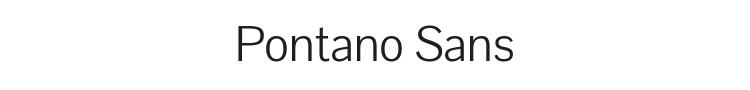 Pontano Sans Font Preview