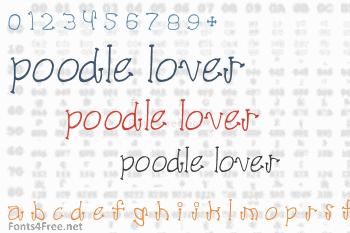 Poodle Lover Font