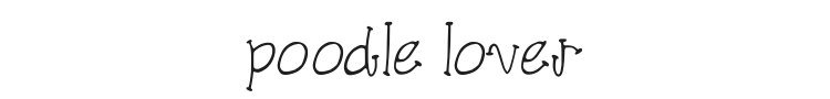 Poodle Lover Font Preview