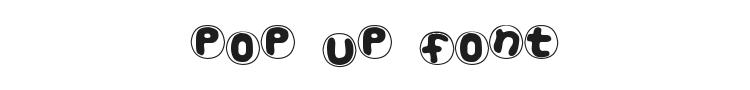 Pop Up Font