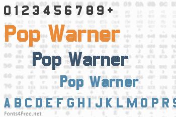 Pop Warner Font