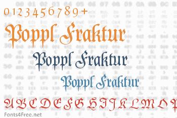 Poppl Fraktur Font