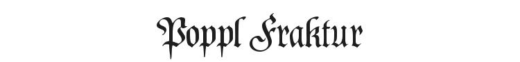 Poppl Fraktur Font Preview