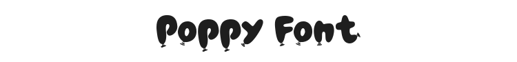 Poppy Font Preview