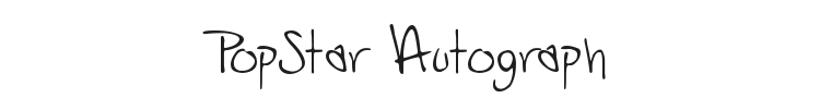 PopStar Autograph Font Preview