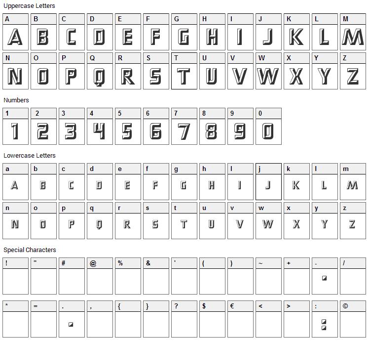 PopUps Font Character Map