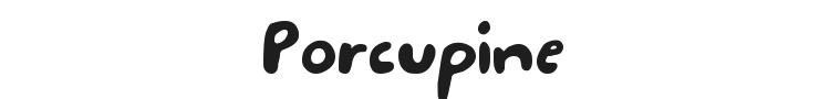 Porcupine Font Preview