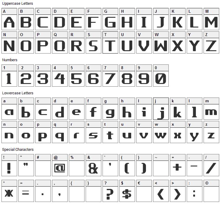 Porhythm Font Character Map