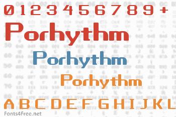 Porhythm Font