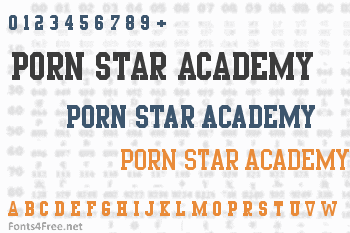 Porn Star Academy Font