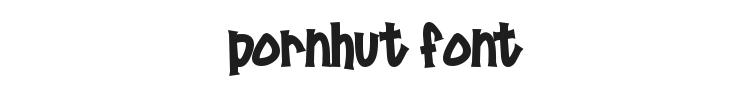 Pornhut Font Preview