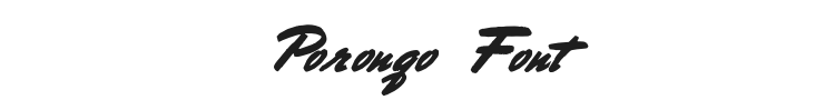 Porongo Font Preview