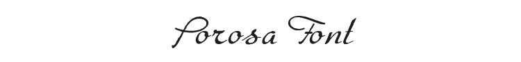 Porosa Font Preview