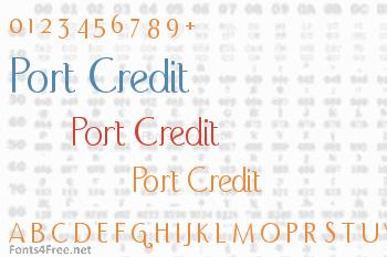 Port Credit Font