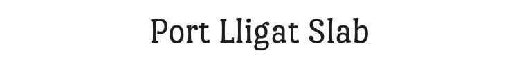 Port Lligat Slab Font Preview