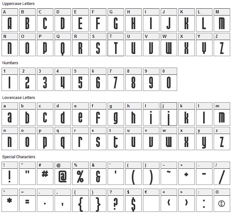 Port McKenzie Font Character Map
