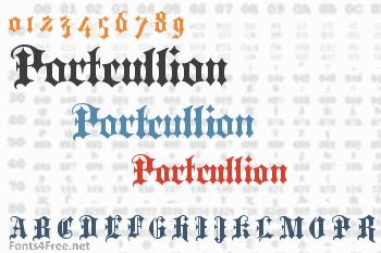 Portcullion Font
