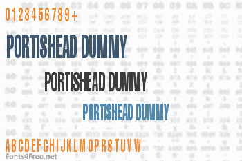 Portishead Dummy Font