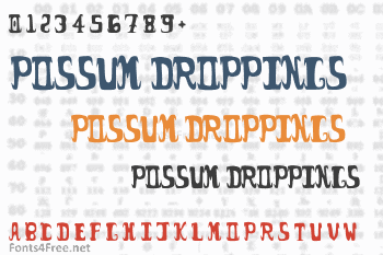 Possum Droppings Font