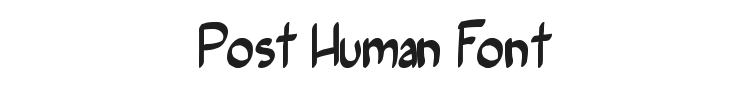 Post Human Font Preview