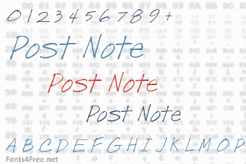 Post Note Font