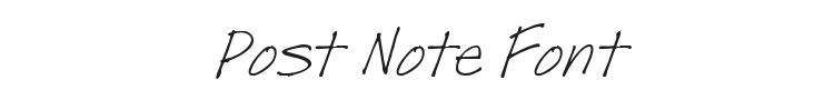 Post Note Font Preview